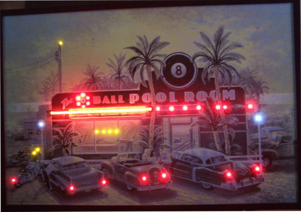 8 Ball Pool Room Neon/LED Poster