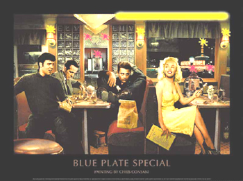 Blue Plate Special Neon/LED Poster