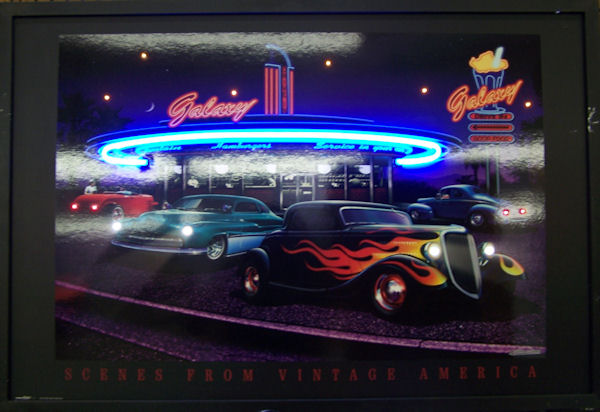Galaxy Diner Neon/LED Poster