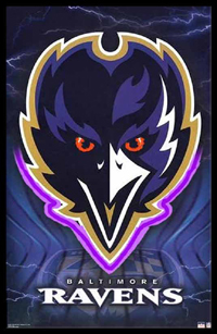 Baltimore Ravens Neon/LED Poster