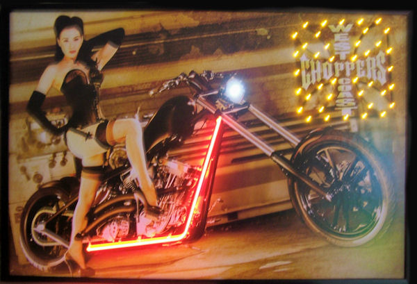 West Coast Choppers Girl Neon/LED Poster