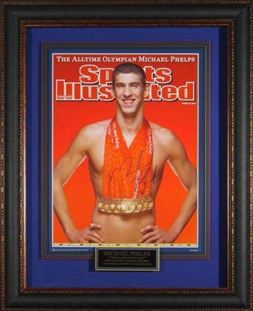 Michael Phelps signed Sports Illustrated Poster