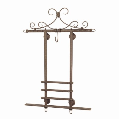 Wall Rack Old Brown Finish
