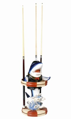 Shark -Blue -Pool Cue Holder