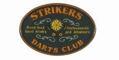 Strikers Dart Club Sign