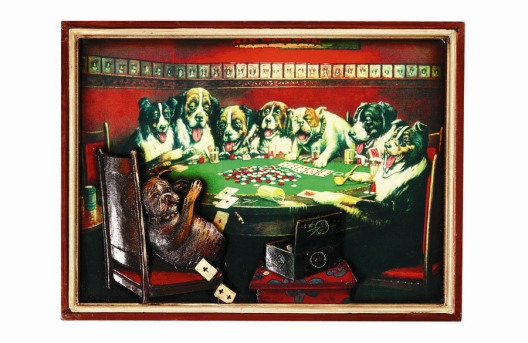 Poker Dogs Under Table Sign