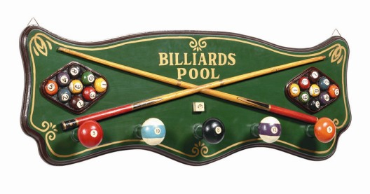 Billiards Coat Rack