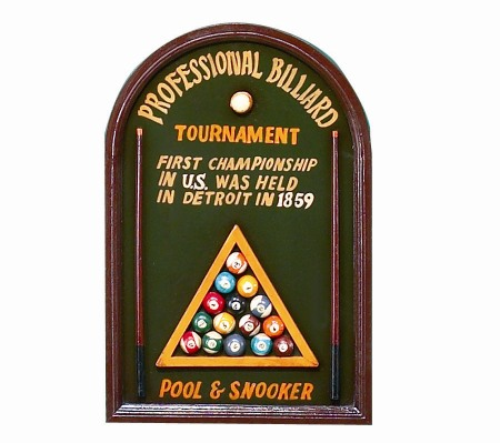 Professional Billiard Sign