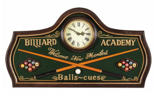 Billiard Academy Clock