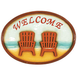 Welcome Sign with Beach Theme