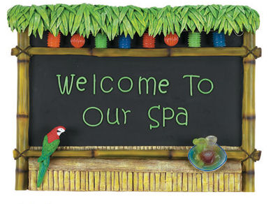 Tiki Bar- Welcome To Our Spa Sign