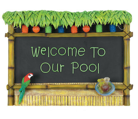 Tiki Bar -Welcome To Our Pool Sign