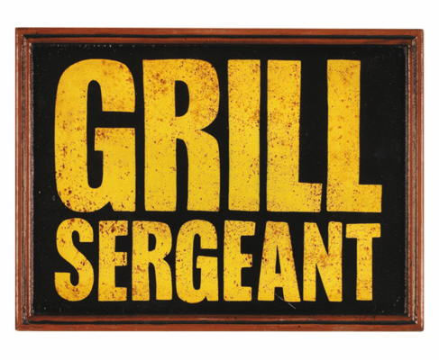 Grill Sergeant Sign