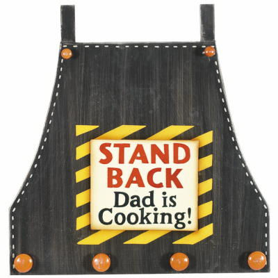 Stand Back Dad is Cooking Utensil Holder Sign