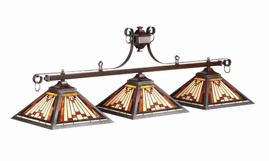 Laredo Stained Glass Pool Table Light
