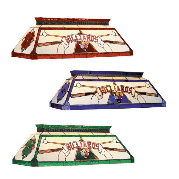 billiard stained glass pool table light gameroom lighting