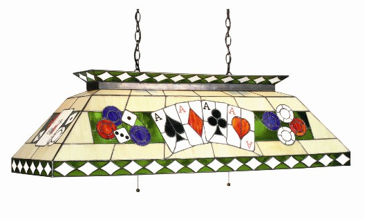 poker stained glass pool table light gameroom lighting t