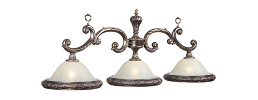 Weathered Bronze Finish 3 Light Billiard Fixture