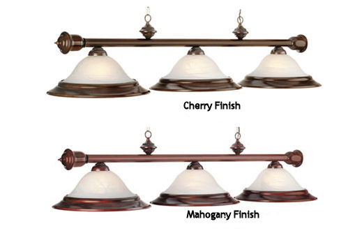 Wood Finish Light Billiard Fixture