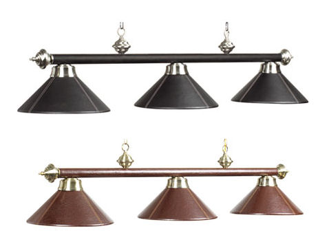 Leather Light Billiard Fixture