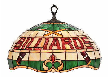 Billiards Stained Glass Pendant Ceiling Light