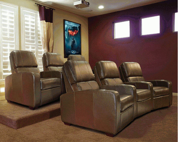 Charming Bello Home Theater Seating  Brown