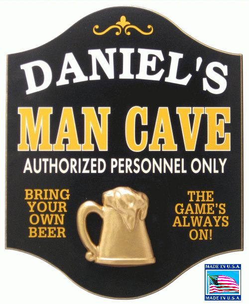 Man Cave Personalized Sign