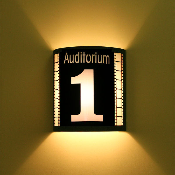 Auditorium 1 Theater Sconce (with filmstrip)