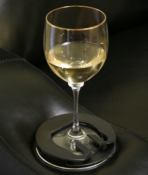 Home Theater Seat Stemware Holder