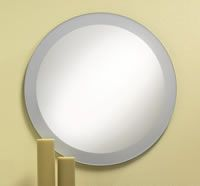 High Polished Edge Round Mirror