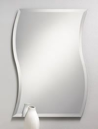 The Wave Frameless Mirror