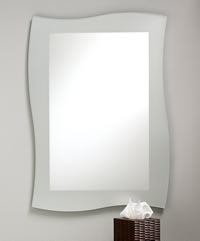 Curved Frameless Mirror