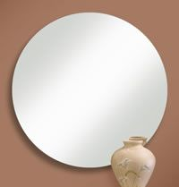 Round Frameless Mirror with High Polished Edge