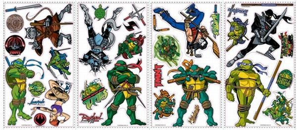 Teen Age Ninja Turtles Peel and Stick Appliques