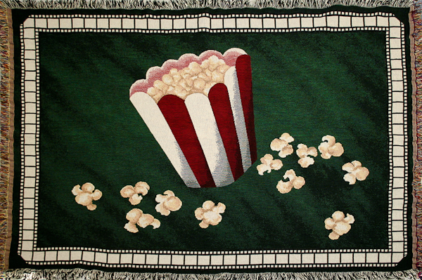 NEW! Popcorn Deluxe Home Theater Throw Blanket in Green