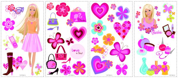 Barbie Deco Peel & Stick Applique