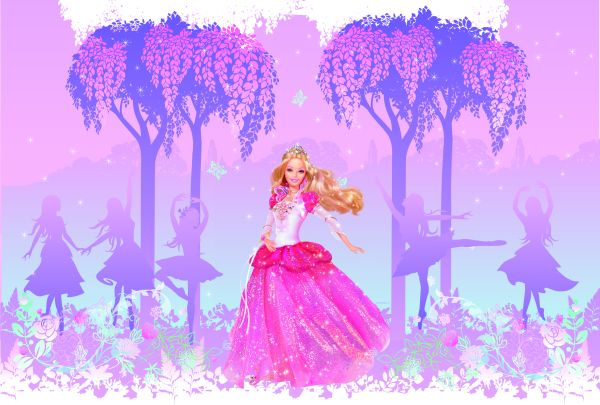 Barbie Princess Giant Peel and Stick Applique