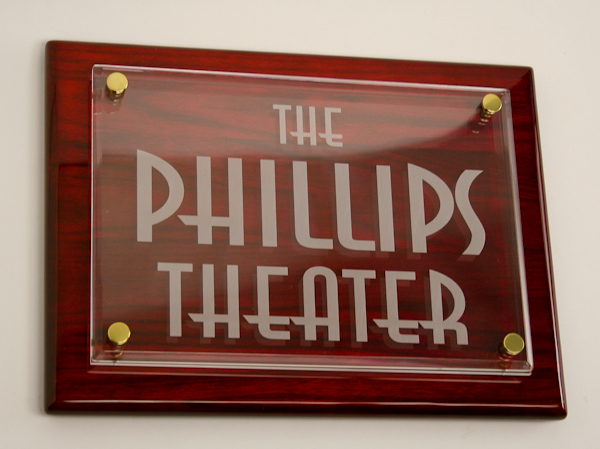 NEW! Personalized Theater Plaque