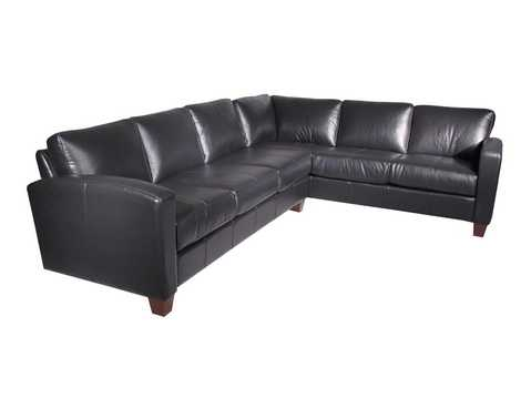 Metro Sectional  (Standard Leather)