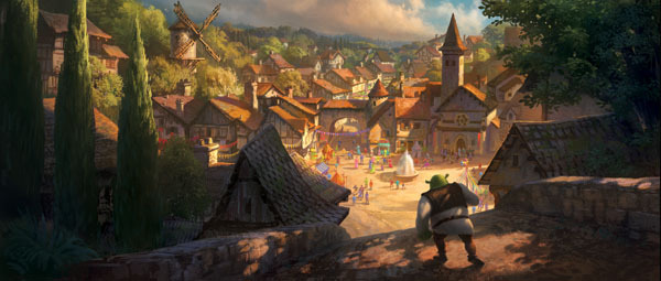 Shrek Entering Village