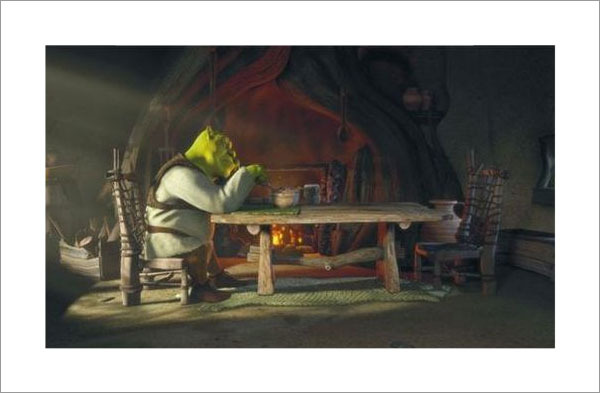 Shrek at Dinner