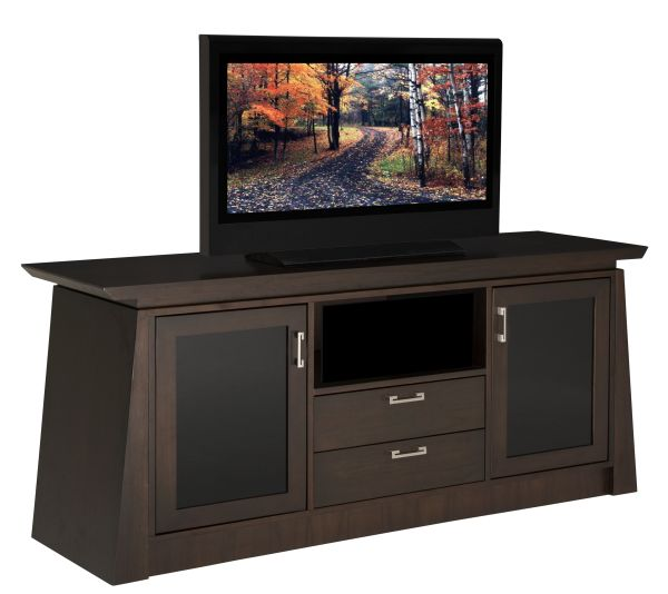 """70"""" Contemporary Asian Console with Tapered Legs"""
