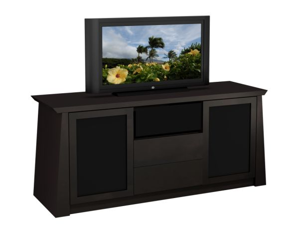 "70"" Contemporary Asian Console Ebony Finish"