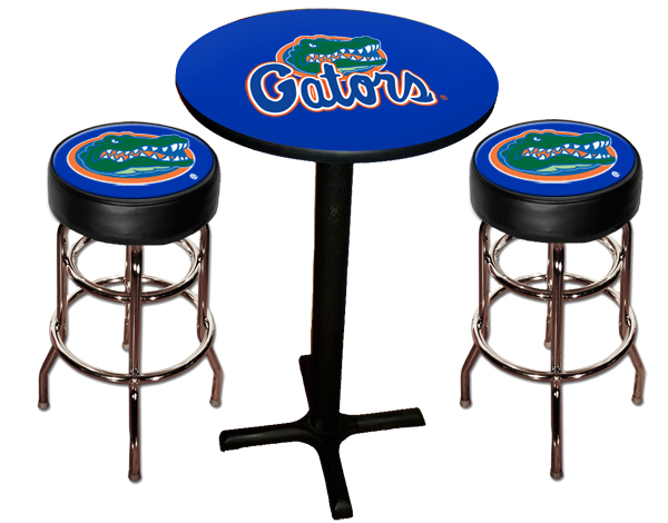 Florida Gators Pub Table With Two Stools Stargate Cinema