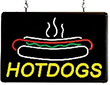 """Hotdogs"" Ultra-Bright LED Sign"