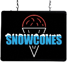 """Snow Cones""  Ultra-Bright LED Sign"
