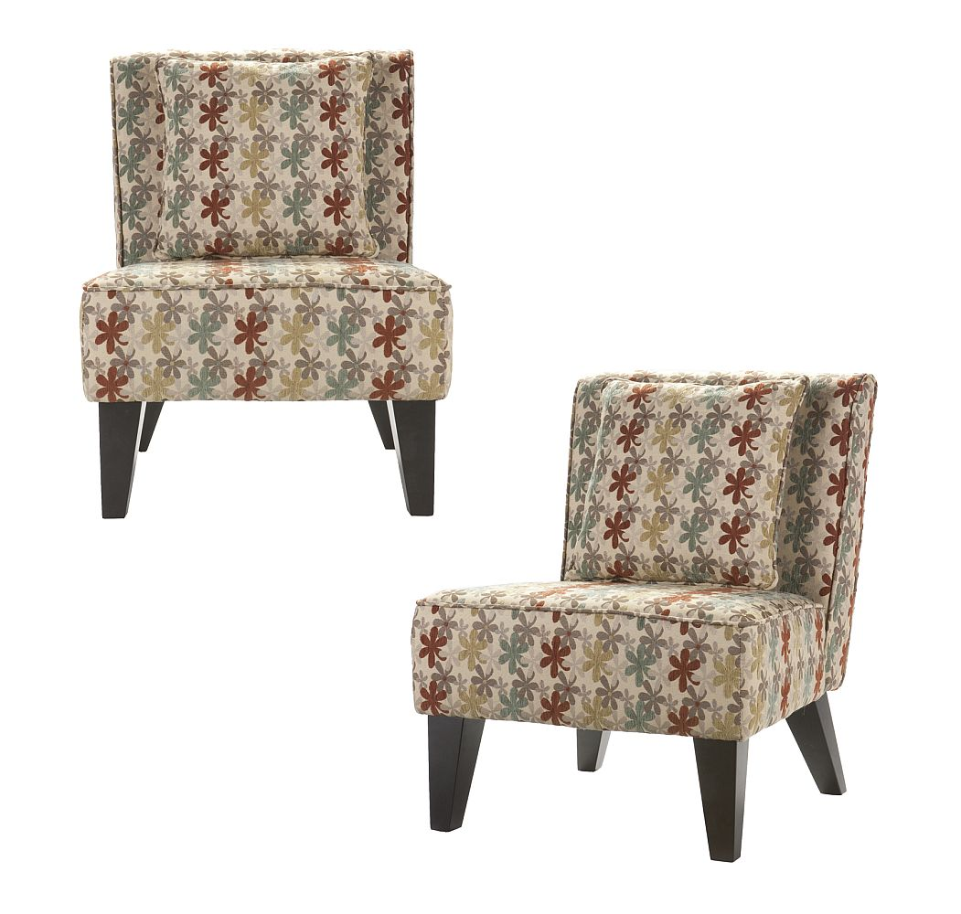 Pair of Celia Chairs/Pillow - Clover Aegean