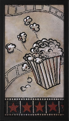 Popcorn with Film Framed Theater Wall Art