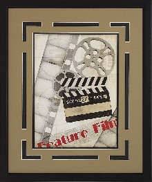 "Sale!""Feature Film""  Double Matted Framed Theater Wall Art"