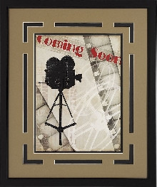 "Sale! ""Coming Soon!"" Vintage Film Double Matted Framed Theater Wall Art"